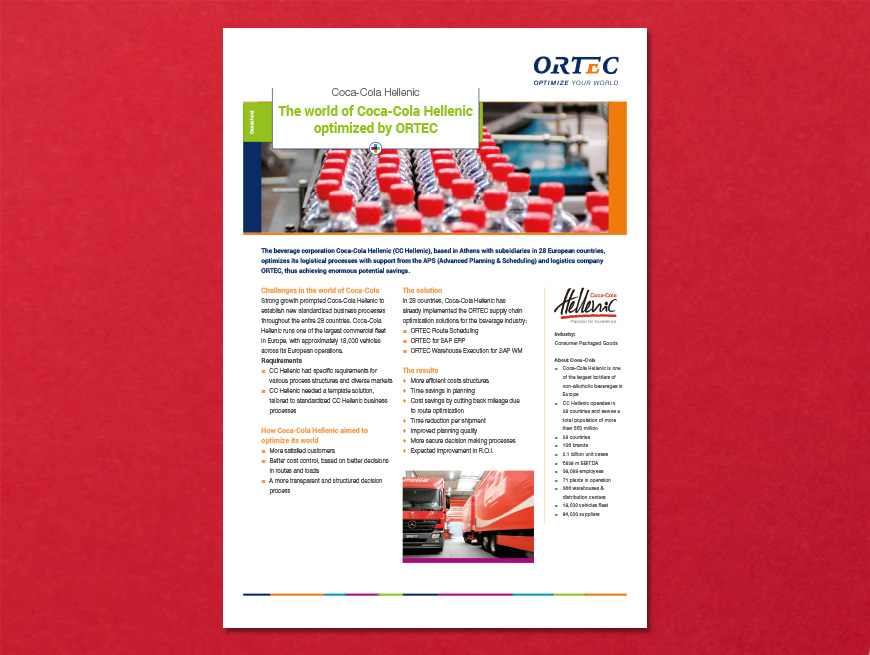 Klantcase: Coca-Cola Hellenic i.o.v. ORTEC