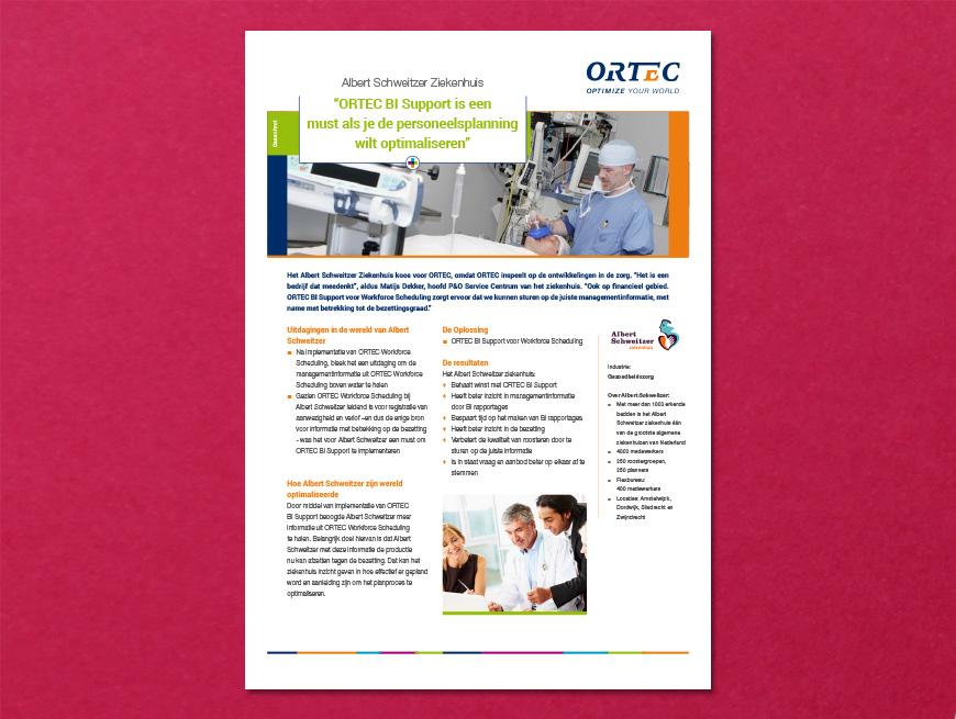 Klantcase: Albert Schweitzer Ziekenhuis i.o.v. ORTEC