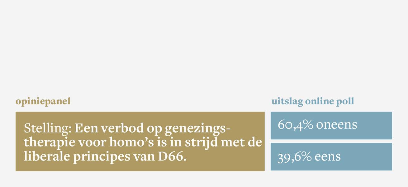 Stelling: Een verbod op genezingstherapie voor homo's is in strijd met de liberale principes van D66.